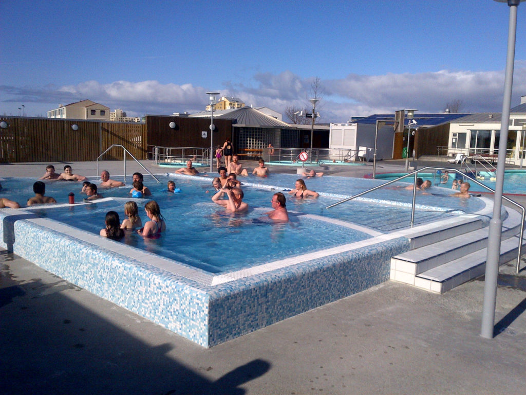 Swimming in Iceland